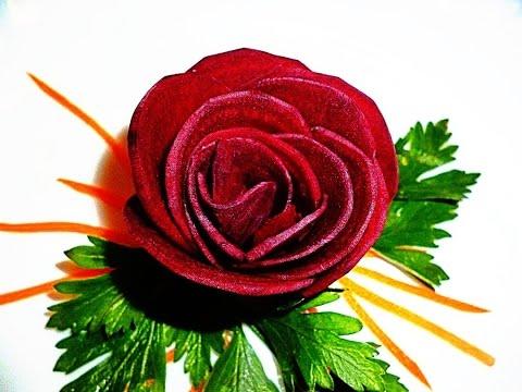 Свекла как сделать розу