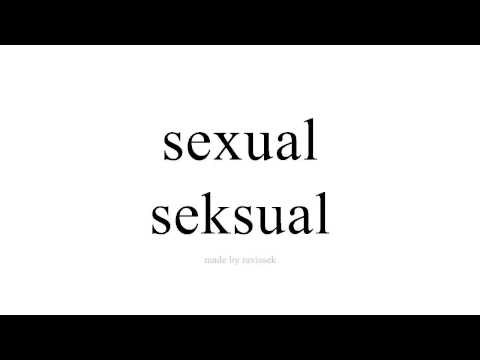sinau Spanyol   seksual