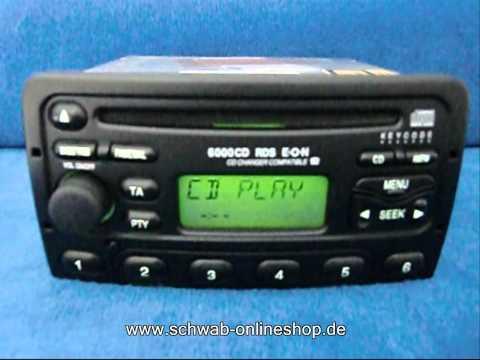 Ford 6000 CD / carradio car Radio Autoradio decode encode code safe 6000cd XS7F-18C815-AB