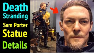 Death Stranding: Sam Statue Details (Zoomed In On Norman Reedus - Sam Porter Bridges)