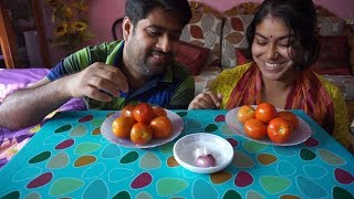 12 Tomatoes Eating Challenge | tomato Eating Competition