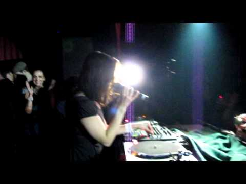 Nina Kraviz performing LIVE 'I'm gonna get you' at Club Beat, Budapest 18.02.2011 by KRIS MITJANS