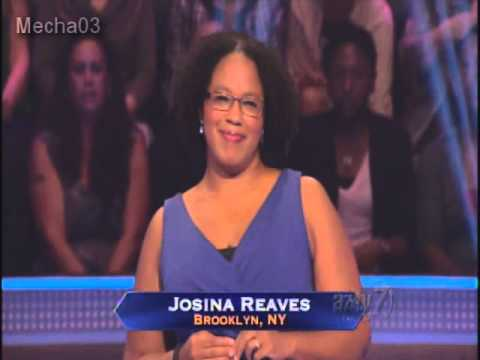 Josina Reaves' Full Game - Who Wants To Be A Millionaire [season 12] video