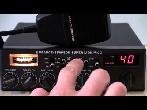 PEARCE SIMPSON SUPER LION MKII AM/SSB CB RADIO 27MHz