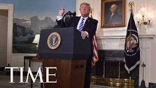 President Trump Takes A Break From Press Conference To Sip Water | TIME