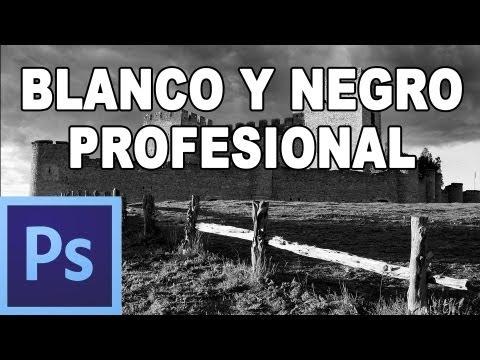 Cómo convertir a blanco y negro profesional - Tutorial Photoshop en Español por @prismatutorial (HD)