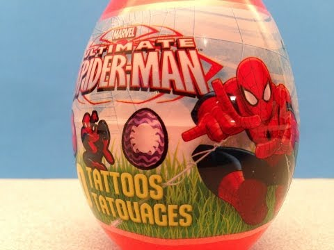 ULTIMATE SPIDER-MAN TATTOOS EASTER EGG OPENING AND GIVEAWAY