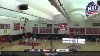 NJIT Men's Basketball Maine Highlights