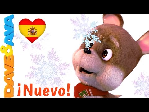 ❄️ Canciones Infantiles   Canciones de Navidad en Español de Dave y Ava   Diez Copos de Nieve ❄️
