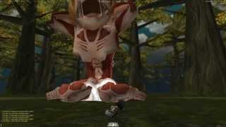 """Easy"" way to kill titan Annie solo in AoT tribute game"