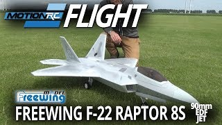 Freewing F-22 Raptor 90mm 8s EDF Jet - Grass Ops- Motion RC