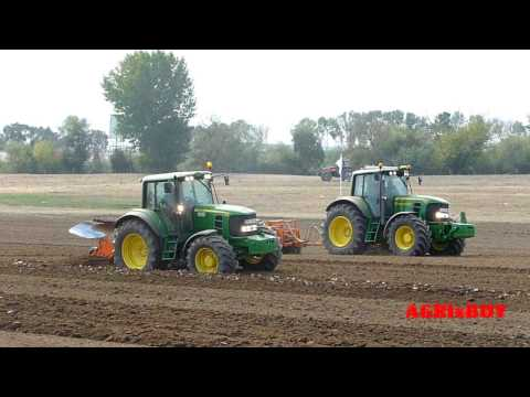 """ New Holland""  vs  ""John Deere""  vs ""Valtra"" , tractor  field exibition"