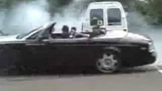 Russian drift Rolls Royce Phantom Drophead