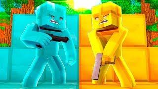 GÖRÜNMEZ ELMAS VS ALTIN OLDUK !! (Minecraft Efsane Saklambaç)