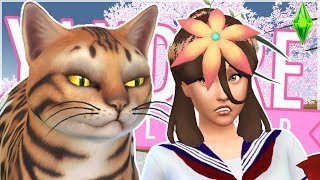 🐯A terrifying TIGER gets UNLEASHED in the Garden Club!!🐯 - Yandere Simulator in The Sims 4!