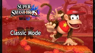 Super Smash Bros Wii U ~ Classic Mode - Diddy Kong