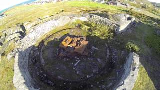 DJI Phantom v2 - War Ruins Of World War 2 In Gamvik