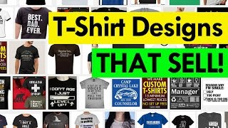 How To Create T-Shirts Designs THAT SELL - Teespring Tutorial