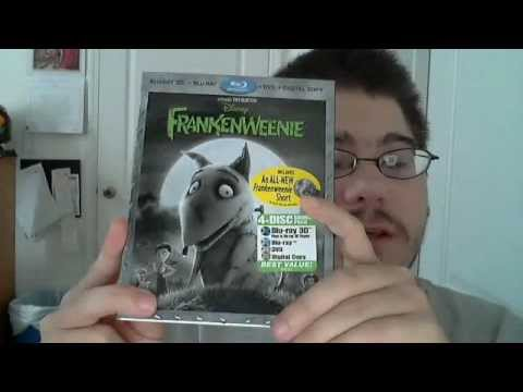 Frankenweenie 3D/2D Blu-Ray/DVD/Digital Copy Combo Pack Unboxing
