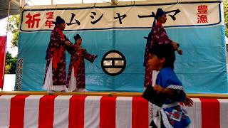 波照間島ムシャーマ2017 祖平花節 西組