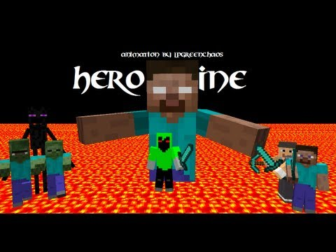 Herobrine A Minecraft Parody of Imagine Dragons Radioactive Full HD