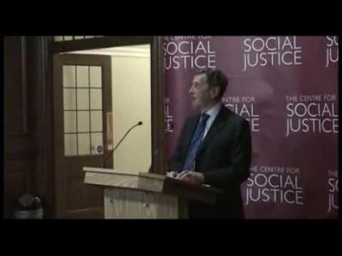 CSJ Good Society Lecture 2014 - David Blunkett MP