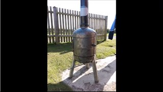 How to make a gas bottle stove