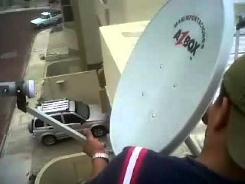 Videotuturial Guia de Instalacion Azbox Bravissimo HD Satelite Hispasat y Amazonas