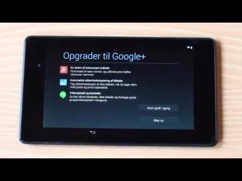 Opsætning af ny Android - Nexus 7