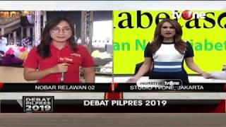 Live Nobar Debat Kelima Pemilu 2019 di Posko BPN 02