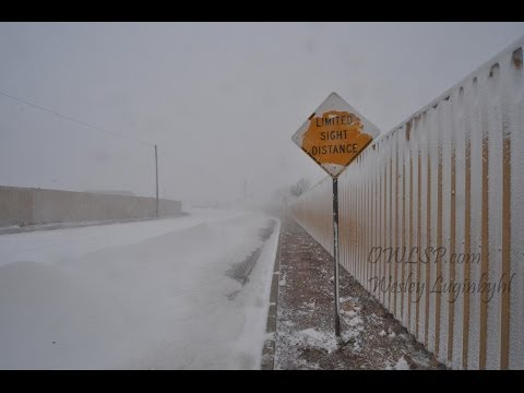 Amarillo Blizzard 2013 Whiteout Conditions - Feb 25, 2013