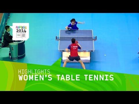 Women's Table Tennis Bronze Medal Match    Highlights   Nanjing 2014 Youth Olympics