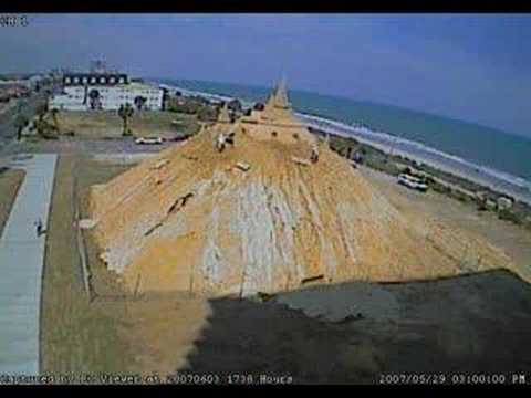 World s Tallest Sandcastle, Time Lapse Construction