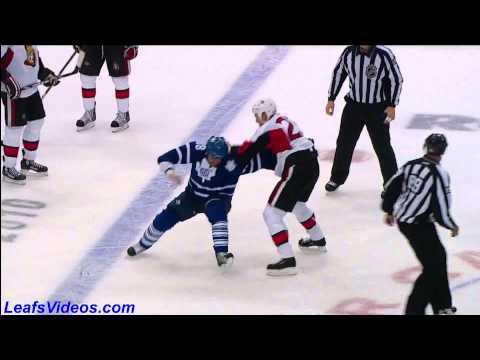 http://www.LeafsVideos.com presents Ottawa Senators @ Toronto Maple Leafs. October 9th 2010, Mike Brown vs Chris Neil Final Score 5-1 Maple Leafs.