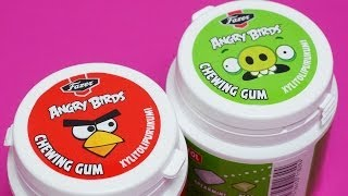 Angry Birds Chewing Gum Red Bird / Green Piggy Pig