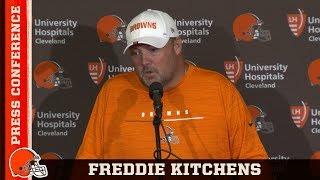 Freddie Kitchens Looking to Reduce Penalties & Play Smarter After Week 2 | Browns Press Conference