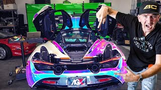 MOST EXPENSIVE WRAP IN THE WORLD IS $30,000 COLOUR CHANGING MCLAREN 720s *DAVE'S VLOG*