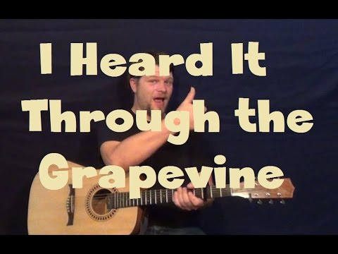 Heard It Through The Grapevine (Marvin Gaye) Guitar Lesson How to Play Standard