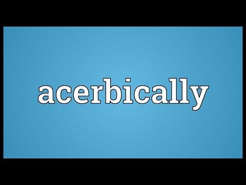 Header of Acerbically