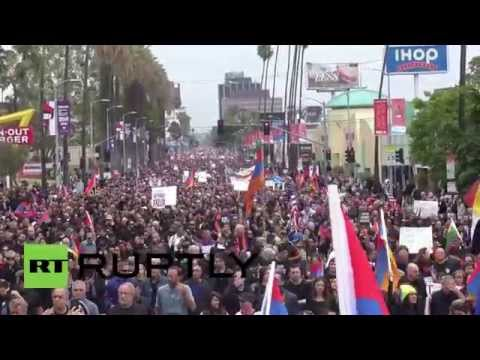 USA: LA marks 100th anniversary of Armenian mass killings with 'March for Justice'