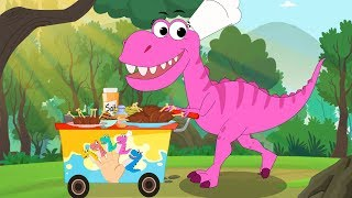 Dinosaurs (T-rex) Family Song + More Nursery Rhymes by FunForKidsTV
