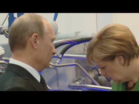 Bundeskanzlerin Angela Merkel & Russlands Präsident Vladimir Putin bei BAUER auf der Hannover Messe