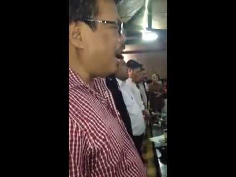 SEJARAH LGMI BERKUMPUL, DIPIMPIN KETUM LGMI MENYANYIKAN LAGU INDONESIA RAYA