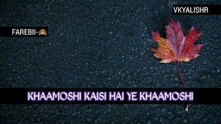 download lagu Khamoshi Ost Song  Bilal Khan & Schumaila Hussain gratis