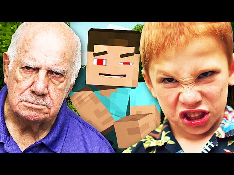 TROLLING A SQUEAKER AND HIS GRANDPA ON MINECRAFT Minecraft Trolling