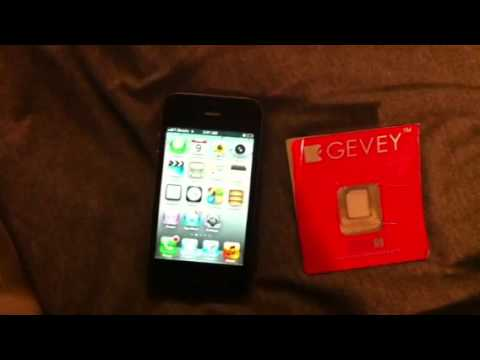 iPhone 4s unlock using Gevey Ultra S
