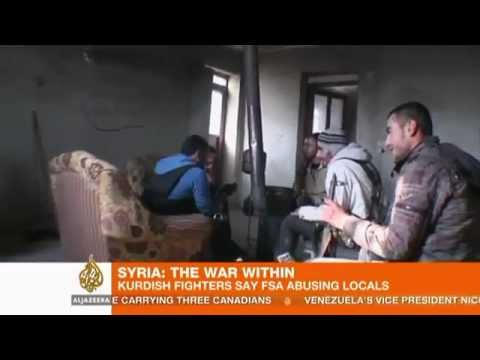 Syria Kurds defends their land from FSA thugs who abuses Citizens