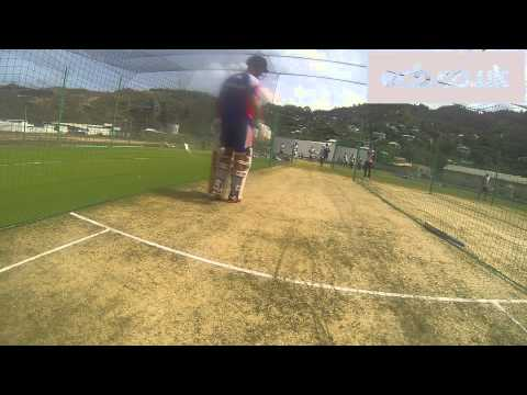 Opening batsmen Alastair Cook & Jonathan Trott face fast bowling - GoPro footage