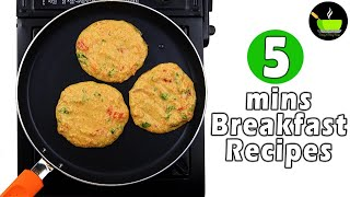 5 Minutes Instant Breakfast Recipes | Quick And Easy Breakfast Recipe | Healthly Breakfast Recipe