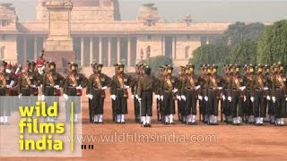 Precision drill performance at Changing of the Guard, Rashtrapati Bhavan
